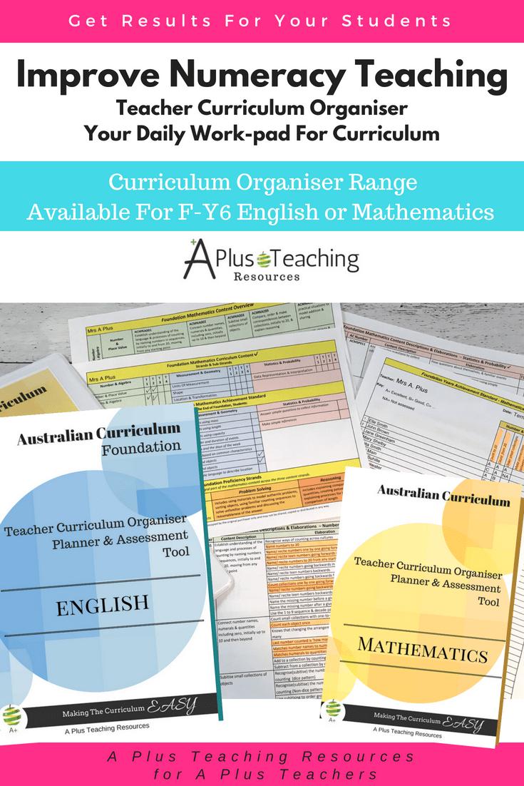 Teacher Organiser Year 1 Australian Curriculum Curriculum Teaching