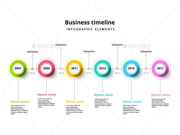 Timeline Infographic Elements Template  Timeline Infographic Ai