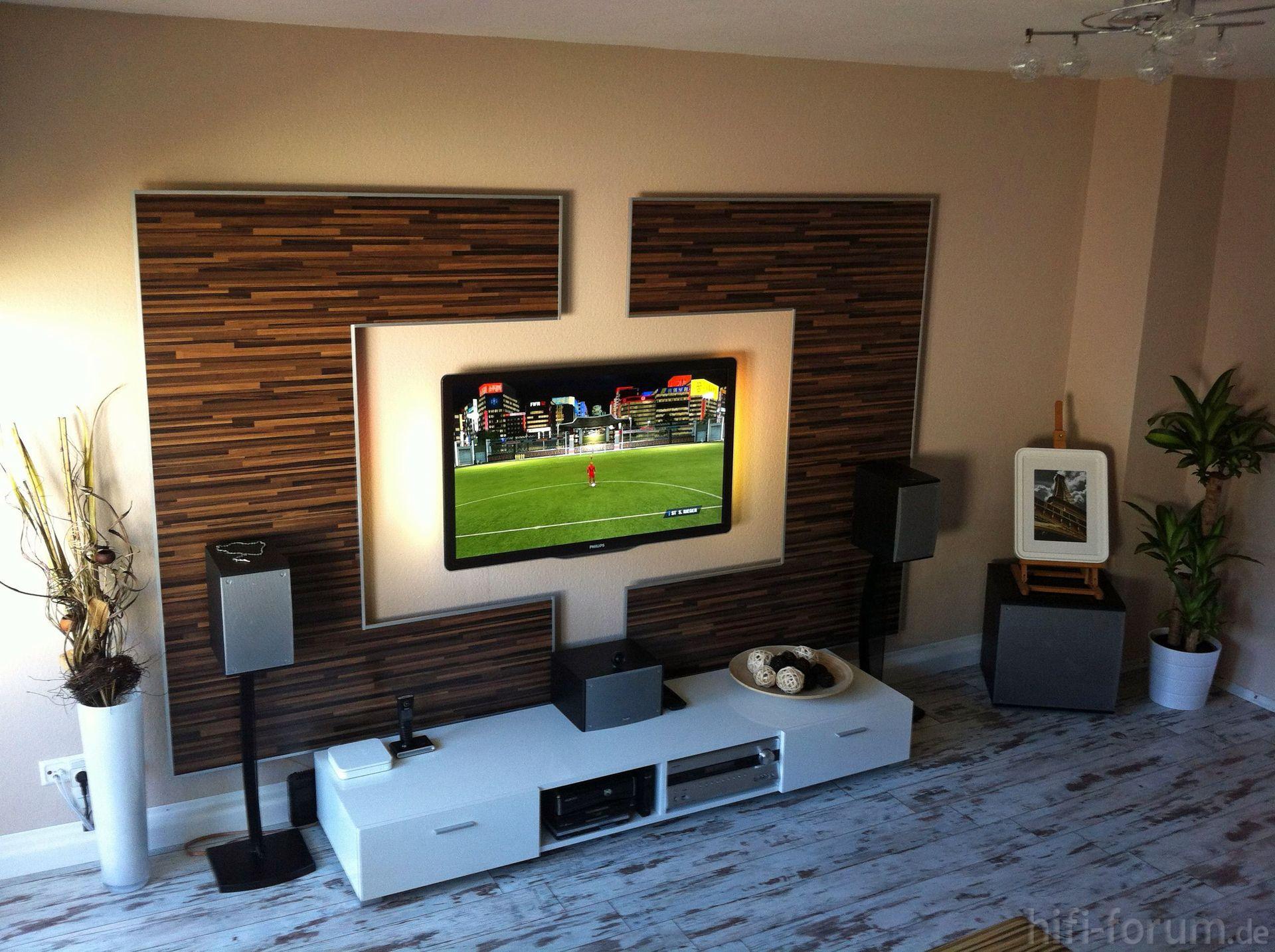 wohnzimmer tv wand selber bauen : wohnwand front doityourself ... - Wohnzimmer Tv Wand Modern