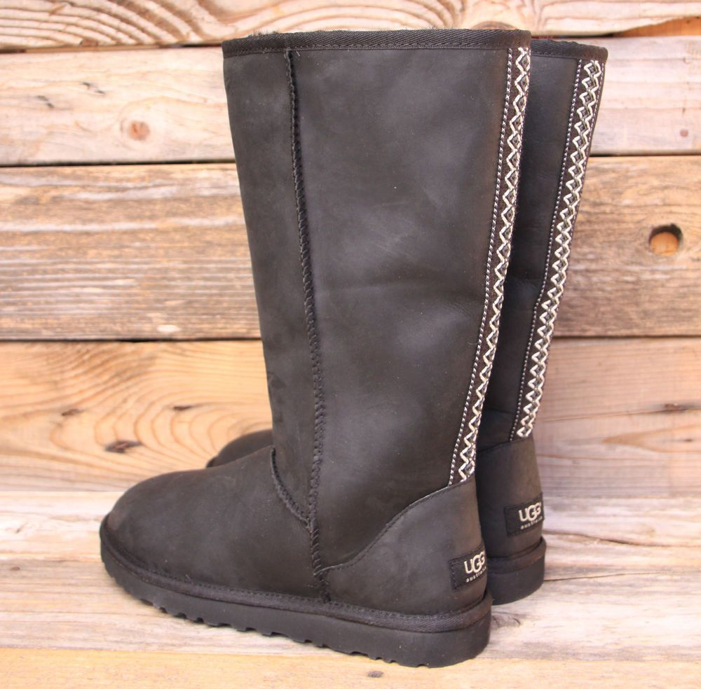 Womens Boots UGG Classic Tall Tasman Black