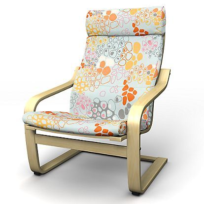 Poang Armchair Cover With Attached Neck Cushion Pinterest Nahen