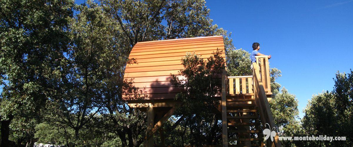 Caba as en los rboles para dos o para cuatro personas y for Alojamientos cabanas en los arboles
