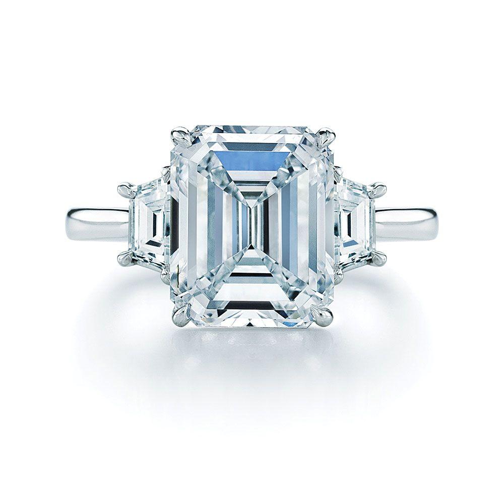 emerald cut wedding rings 02 17 Rustic Ideas Plum Pretty Sugar Emerald Cut RingsEmerald