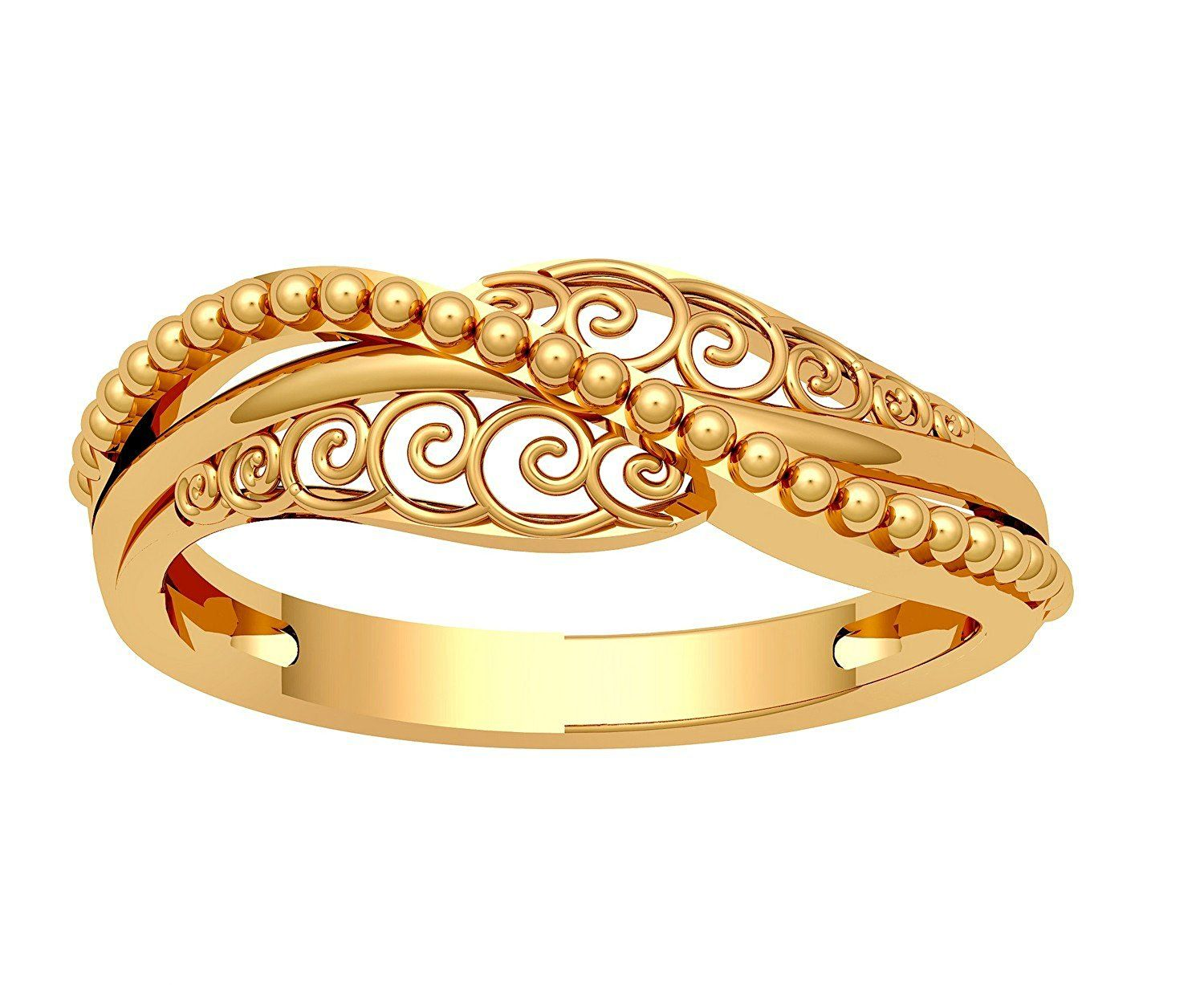 Jewelone 22k 916 Yellow Gold The Nerina Ring Amazon In Jewellery Gold Jewellery Design Necklaces Gold Jewelry Fashion Gold Ring Designs