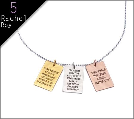 10 Fashionable Gifts That Give Back Rachel Roy X Deepak Pendant 395 Holiday Season Gift Fashion Gifts Holiday Gift Guide