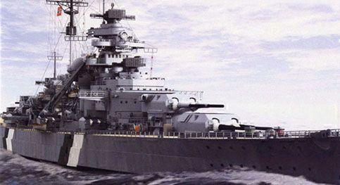 戦艦ビスマルク進んでいる壁紙