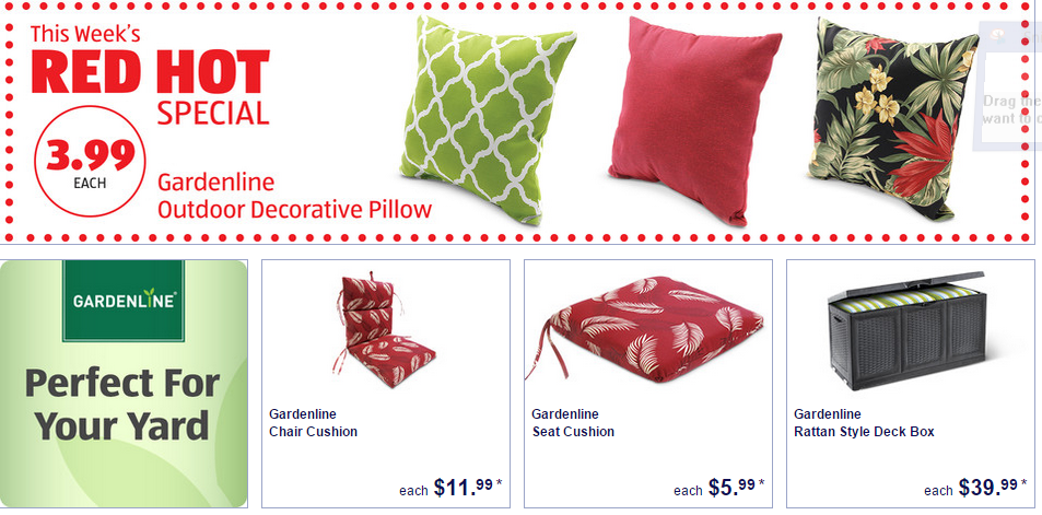 Aldi Deals On Patio Furniture Cushions Time 2 Save Workshops Patio Furniture Cushions Outdoor Decorative Pillows Patio Furniture