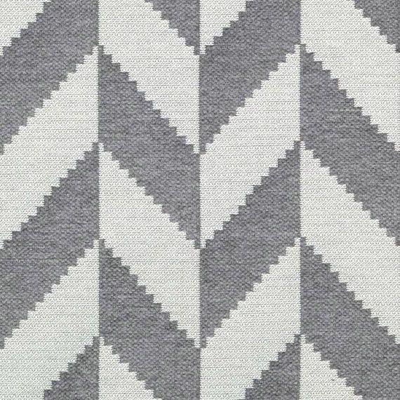 Designer Zig-Zag Woven Black /& Grey Curtain Upholstery Heavyweight Fabric