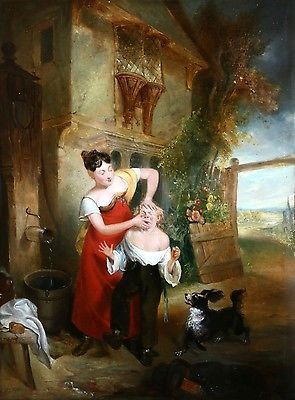 WILLIAM WITHERINGTON R.A (1786-1865) SIGNED OIL ON PANEL to 26000 CHILDREN DOG https://t.co/J75vNQxYQ4 https://t.co/Fj57oXq4ii