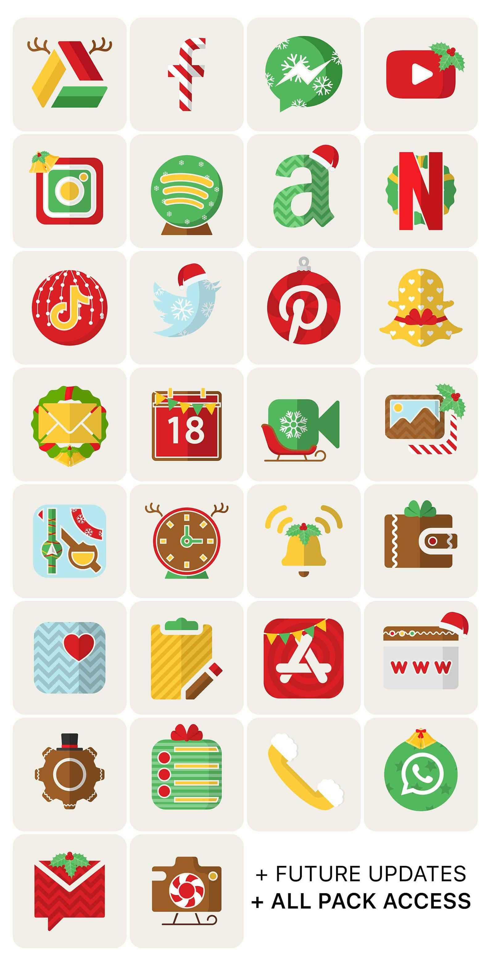 Christmas iOS Icon Pack Wallpaper incl. | All Acce