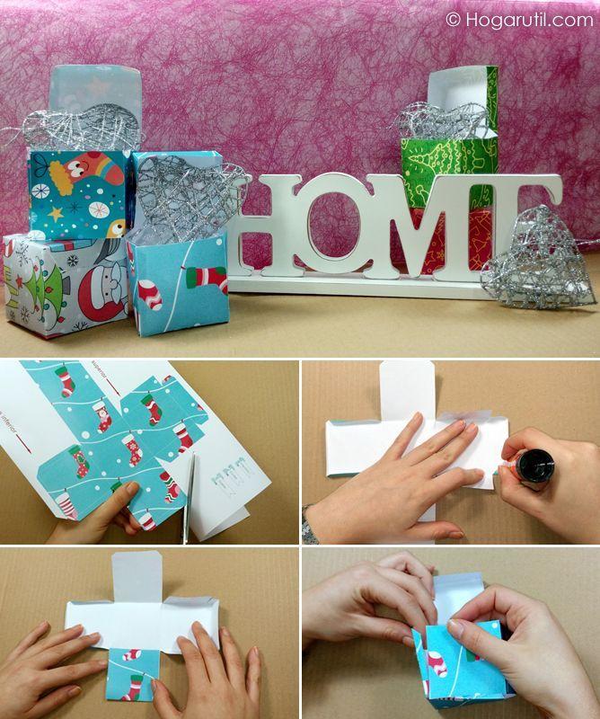 Cajas para regalos peque os de navidad manualidades para for Manualidades para navidad paso a paso