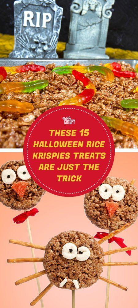 make these kid friendly homemade halloween rice krispie treats an easy kid