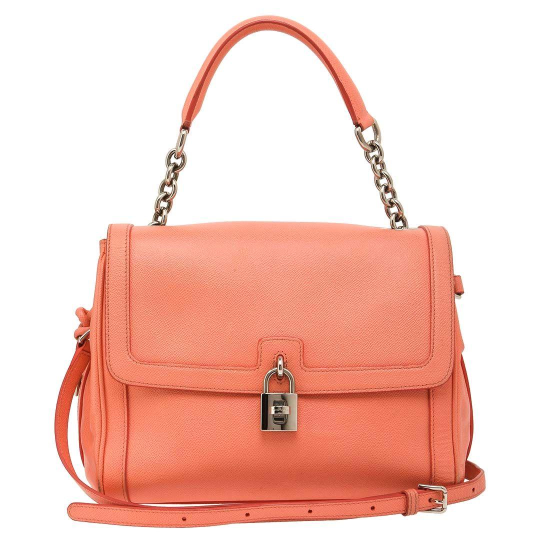 Dolce Gabbana Coral Leather SHW Miss Dolce Bag  bafd78b559ff2