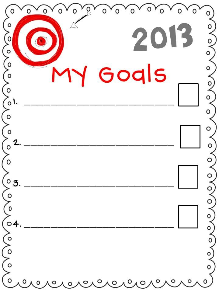 new years goals worksheets for kids | Mrs. Frederick\'s ...