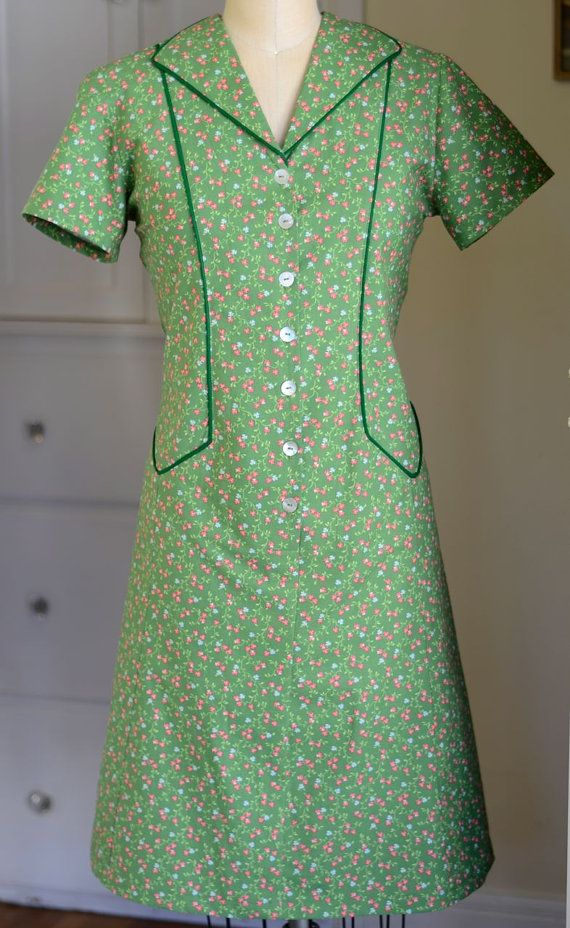 1940s Style Dresses Fashion Clothing: Custom Housedress From A Vintage 1950's Pattern #1940s Day