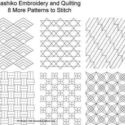 Sashiko Pattern 12 Pinterest Sashiko Embroidery Embroidery And