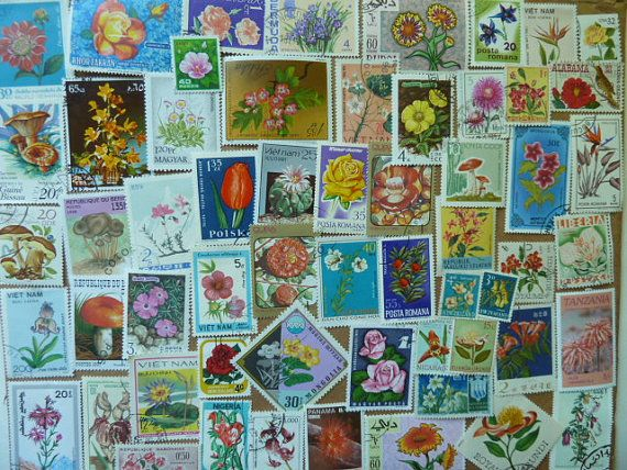 Flowers   Postage Stamps with Flowers for by StampsForCrafts, $3.50