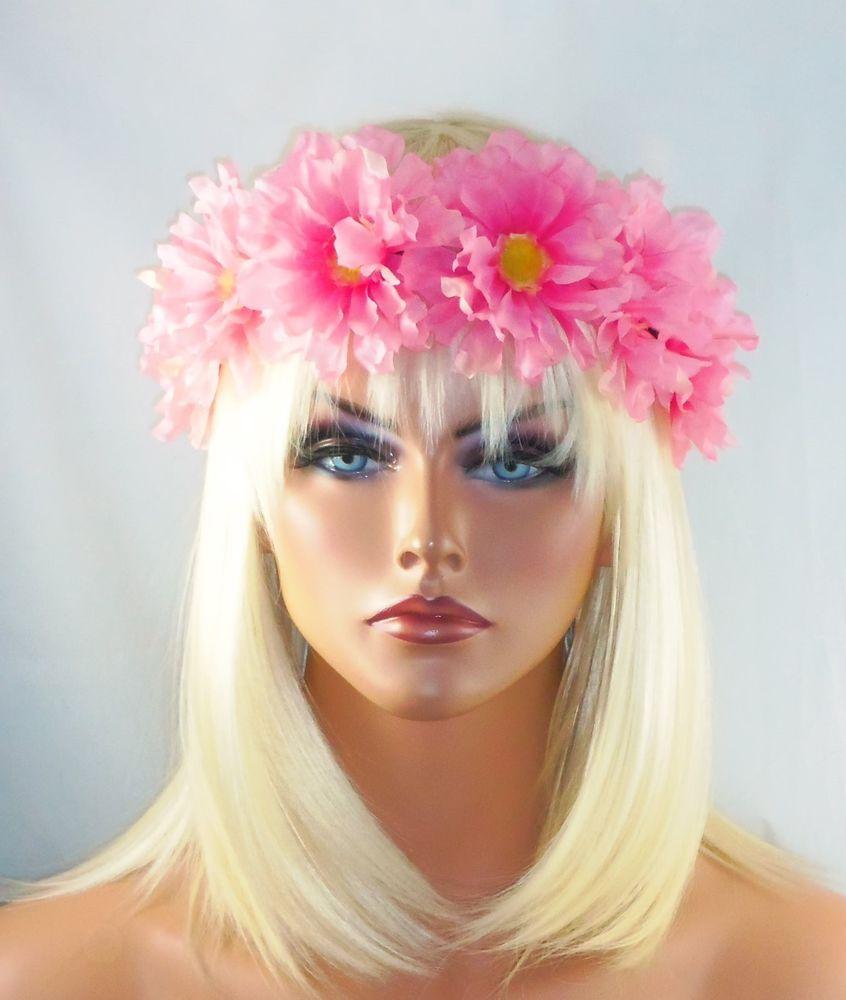 Festival boho hippie flower headband crown hair piece halo suede tie festival boho hippie flower headband crown hair piece halo suede tie head piece fashionjewelry izmirmasajfo Gallery