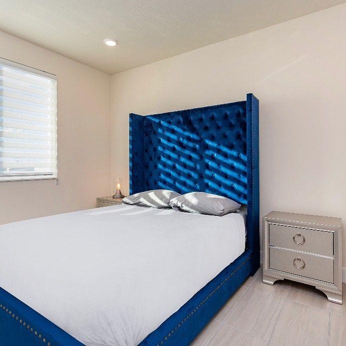 "Coco Furniture Gallery on Instagram: ""Happy customer ✨ Shop this bed for $399! -  #realtor #realestatemiami #love #midtownmiami #interiordesign #southflorida #westpalmbeach…"""