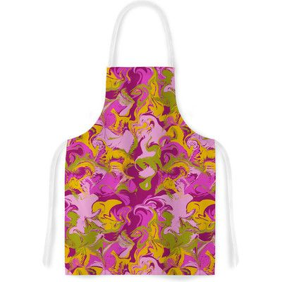 East Urban Home Marbleized In Plum by Anneline Sophia Artistic Apron