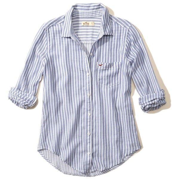 hollister blue striped shirt