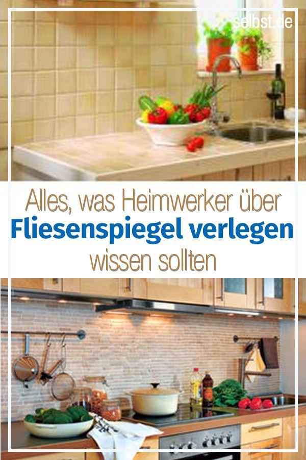 Fliesenspiegel Küche selber machen | Küche renovieren ...