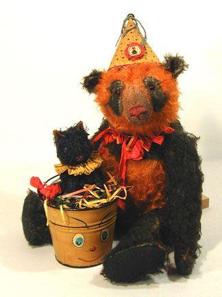 orange and black panda bear....love
