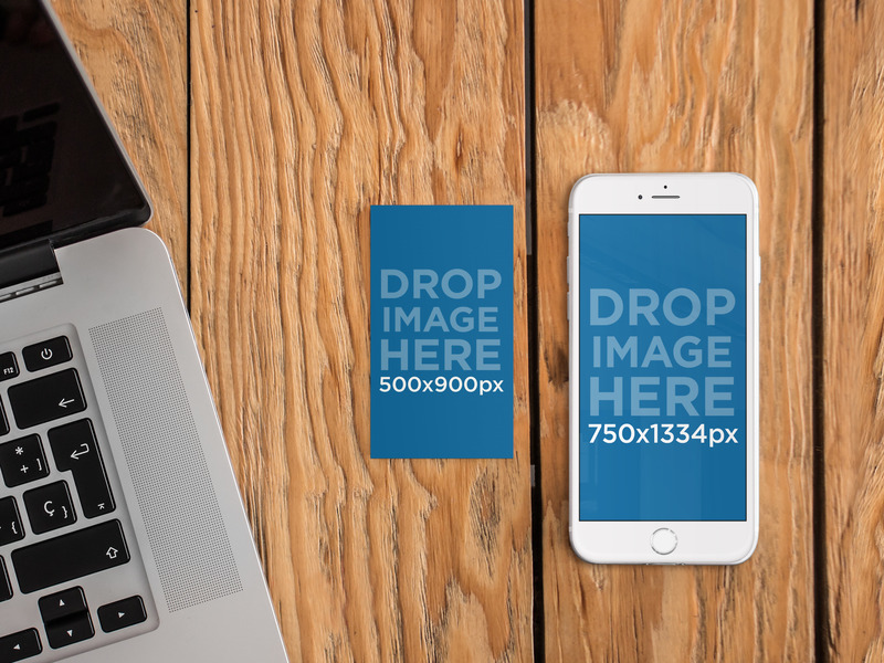 New! iPhone 6 and Business Card Mockup Template. Try it here: https ...