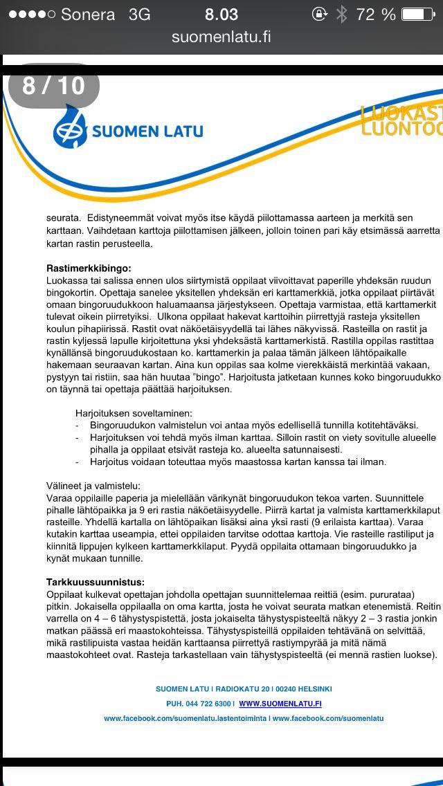 Suomen Latu 8 Ulkoilmakoulu School Teacher Everything