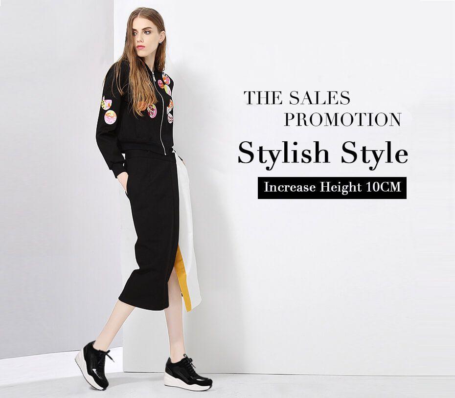 Hidden Heel Shoes for Women Platform