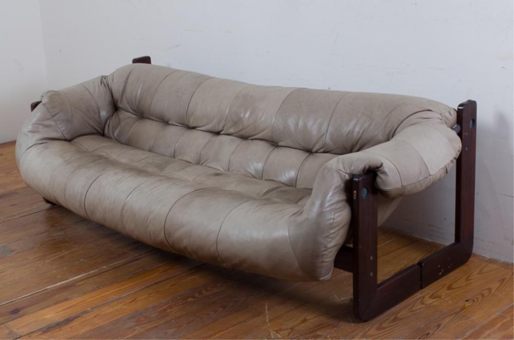 Percival Lafer Leather Sofa Sold For 500 Price Estimate 800 1400
