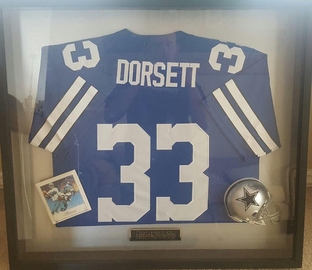 1d2520010d4 Tony Dorsett Cowboys autographed mini helmet signed, framed, jersey COA