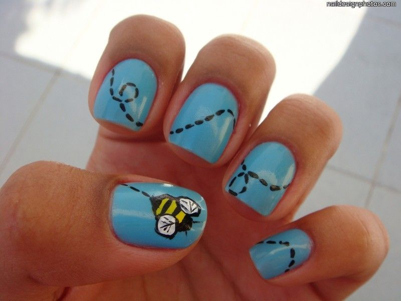 Image detail for easy nail art designs for short nails pictures my style bumble bee nail art prinsesfo Image collections