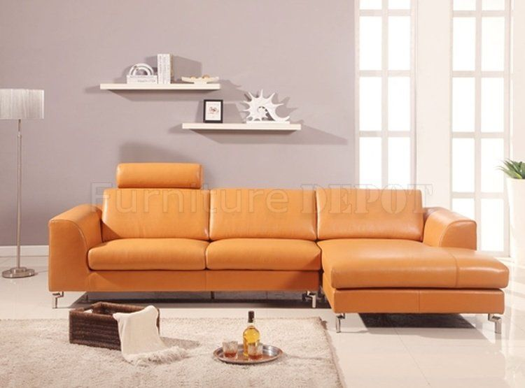 Camel Color Leather Sectional Sofa Zef Jam