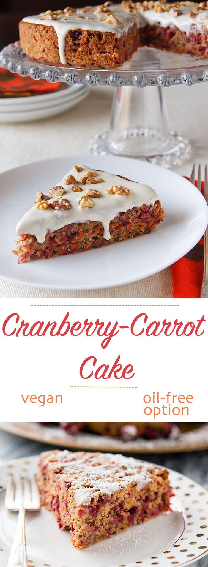CranberryCarrot Cake Recipe Cranberry cake, Vegan