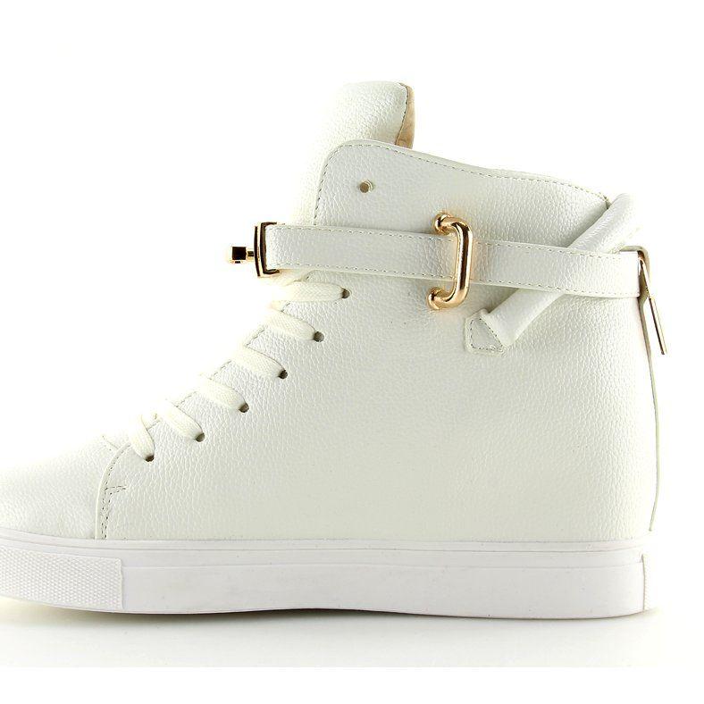 Sneakersy Z Klodka Bialw 1818 White Biale Converse Chuck Taylor High Top Sneaker High Top Sneakers Chucks Converse