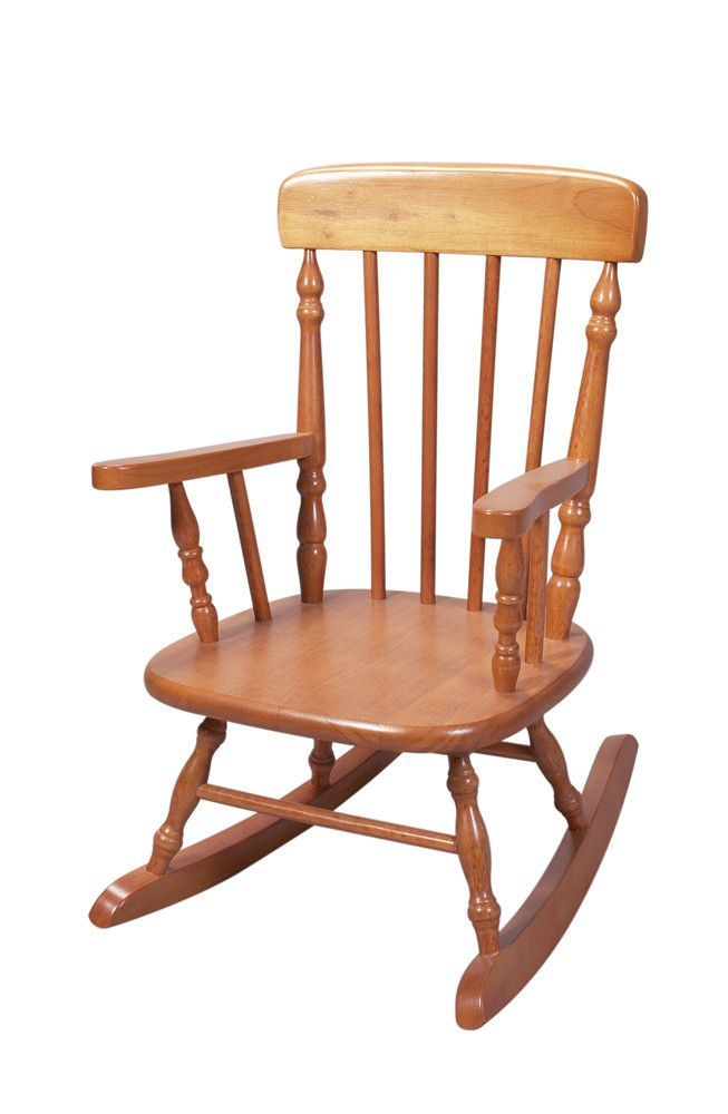 Deluxe Child\'s Spindle Rocking Chair (Honey)