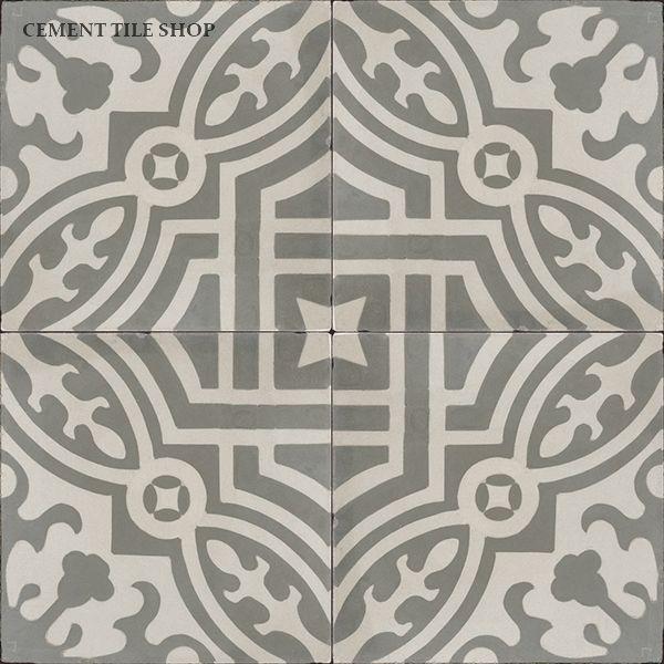 Cement Tile Shop - Encaustic Cement Tile Fountaine Antique