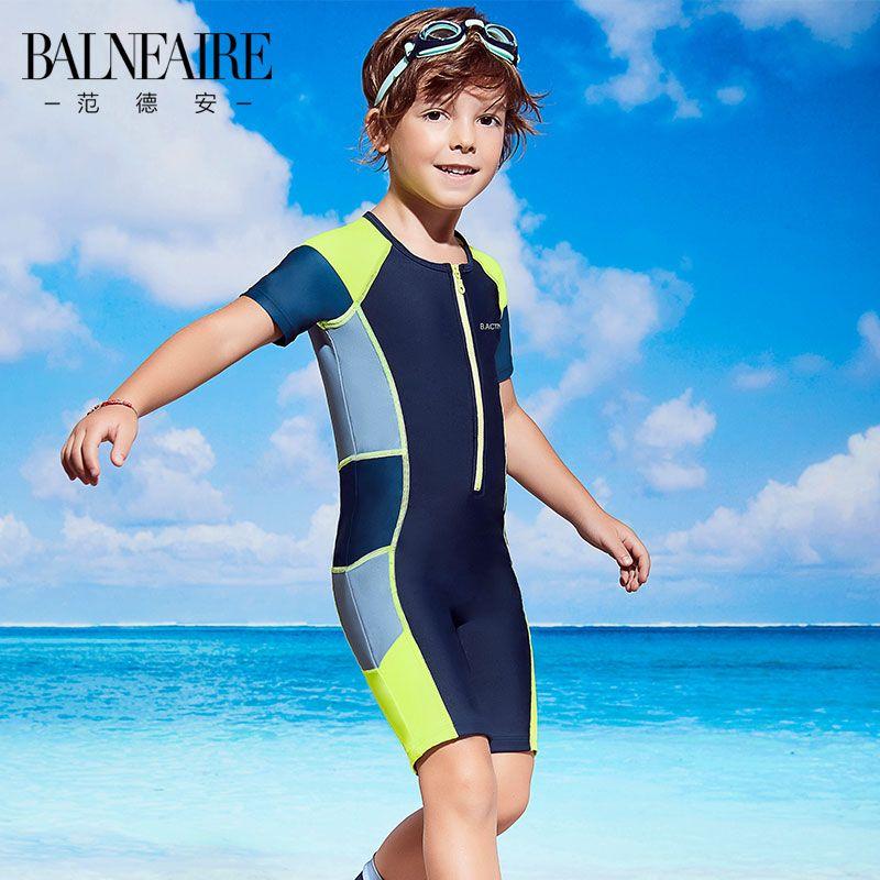Van Dean Children's Half Sleeve One Piece Swimsuit Boys Swim Training  Sunshine Swimsuit   Kids beachwear, Boys dress clothes, Boys summer outfits