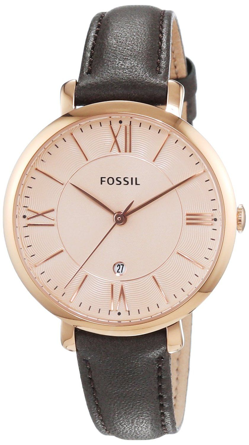 fossil es3707 montre femme quartz analogique bracelet cuir marron montres. Black Bedroom Furniture Sets. Home Design Ideas