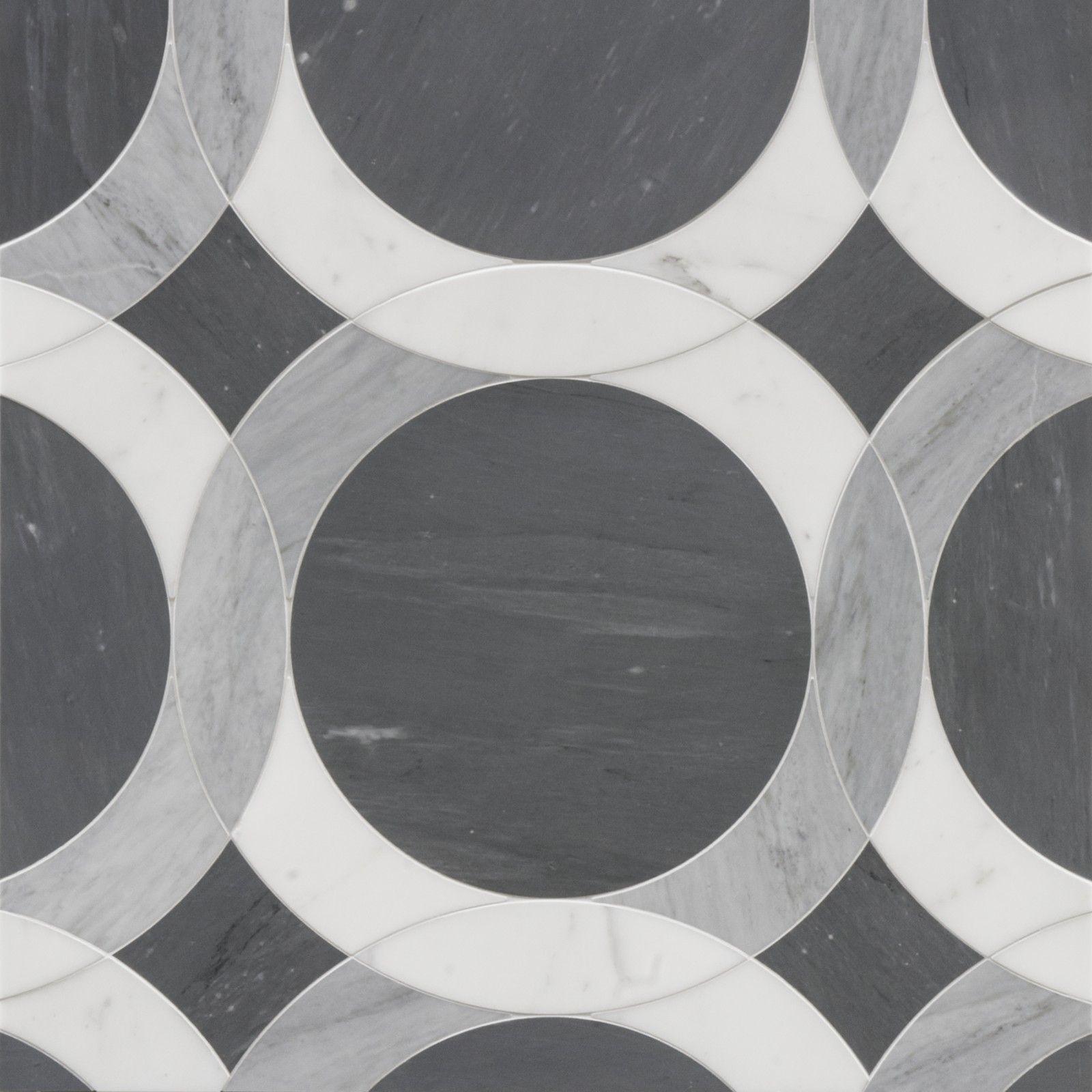 Endless Circles Black Floor Tiles Tiled Hallway Hallway Tiles