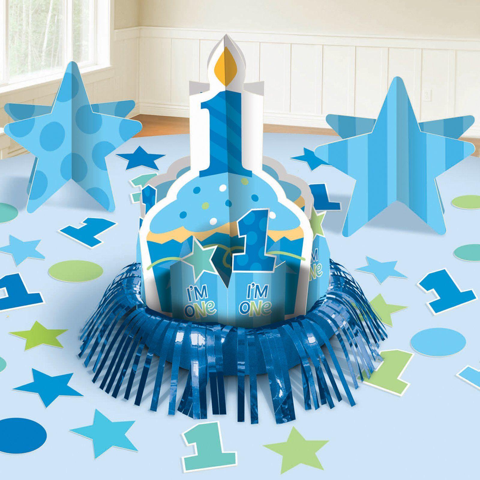 First Birthday Boy Table Decorating Kit 76995 Jacksons Birthday