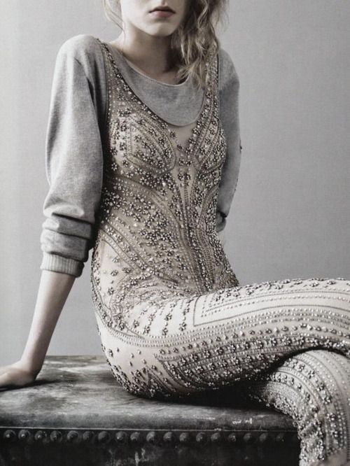 jewel encrusted bodysuit