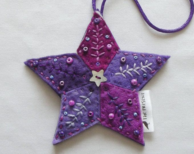 star decoration handmade felt christmas ornament christmas tree star christmas tree topper xmas - Handmade Felt Christmas Decorations