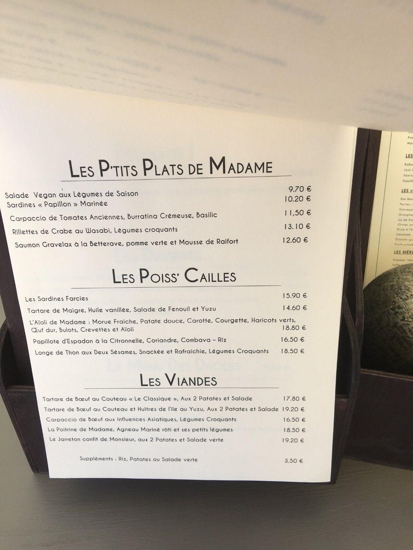 La Grainetière Ile De Ré Avis madame sardine, saint martin de re - restaurant avis, numéro