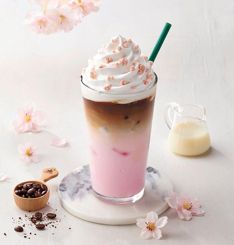아이스 체리블라썸 라떼 Iced Cherry Blossom Latte - Starbucks Korea
