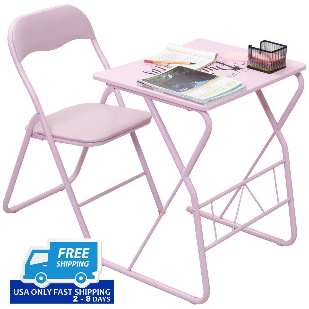 Student Folding Study Writing Chair Table Set!