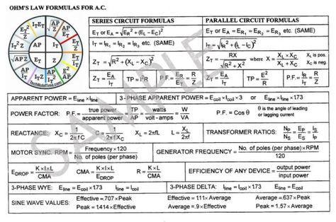 ac wiring formulas  | 640 x 275