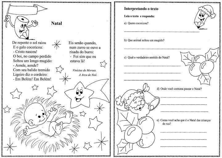 textos natalinos com interpretação para o 3 ano ensino fundamental ...