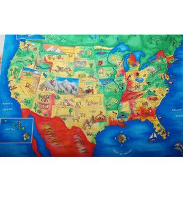 Us Map Fabric Panel Invalid URL | Map quilt, Map fabric, Fabric panels